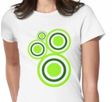 Green circles Womens Fitted T-Shirt