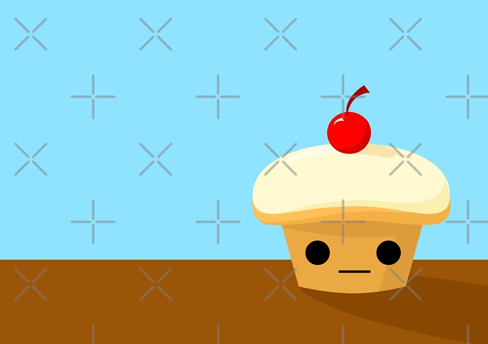 Cupcake with a Cherry on top by kieutiepie
