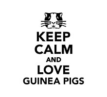 Keep calm and love guinea pigs Photographic Print