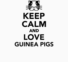 Keep calm and love guinea pigs Womens Fitted T-Shirt