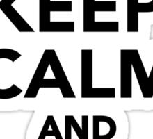 Keep calm and love guinea pigs Sticker