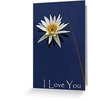 Waterlily Valentine Card Greeting Card