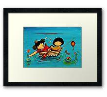 Lotus Love Framed Print