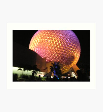 Epcot Ball After Fireworks Art Print