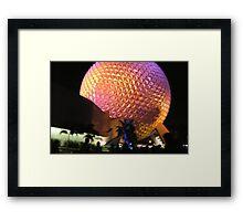 Epcot Ball After Fireworks Framed Print
