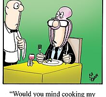Funny Foodie / Dining Cartoon Gift by abbottoons