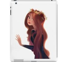 Red Hair and Roses iPad Case/Skin