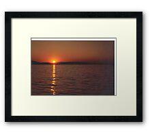 Sunset #3     Vancouver Island Framed Print