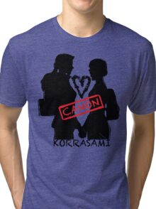 Official Korrasami CANON stamp Tri-blend T-Shirt