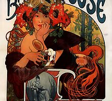 'Bieres de la Meuse' by Alphonse Mucha (Reproduction) by Roz Abellera Art Gallery