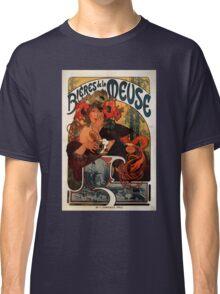 'Bieres de la Meuse' by Alphonse Mucha (Reproduction) Classic T-Shirt