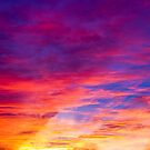 Blazing Sunset Sky by Kenneth Keifer