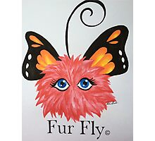 Red Fur Fly© with butterfly wings  Photographic Print