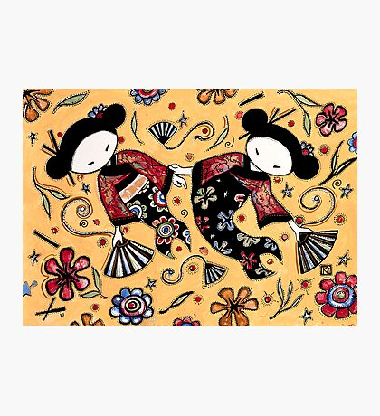Two Asian Dolls Photographic Print