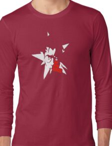 No More Heroes - Star (Red Text) Long Sleeve T-Shirt