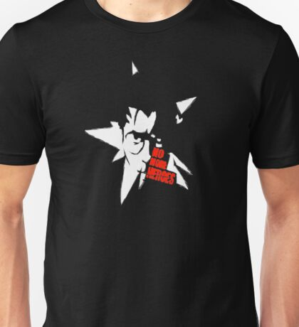 No More Heroes - Star (Red Text) Unisex T-Shirt