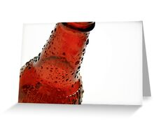 Root Beer Bottle Droplets #1 Greeting Card