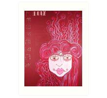 FLESH SERIES: RED Art Print
