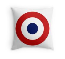 Roundel of the French Air Force Throw Pillow