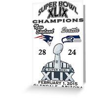Super Bowl XLIX Champions Greeting Card