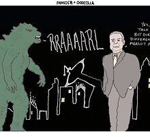 Frasier + Godzilla by altanimus