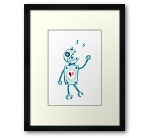 Happy Singing Robot Framed Print