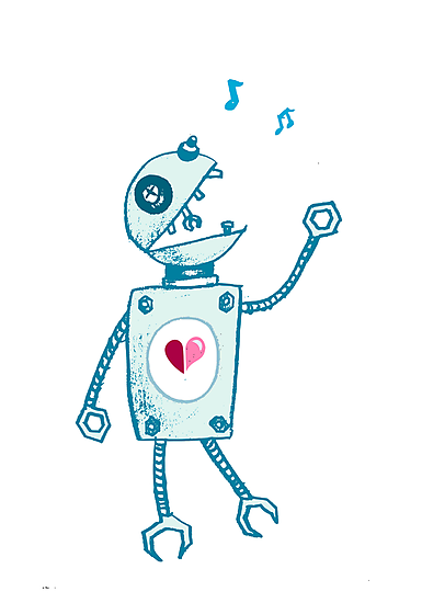 Happy Singing Robot by Boriana Giormova