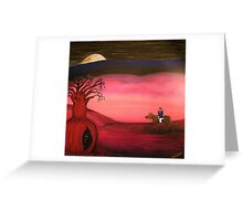 Ned Kelly   (Neds Moonlight Encounter)  Original Sold  Greeting Card
