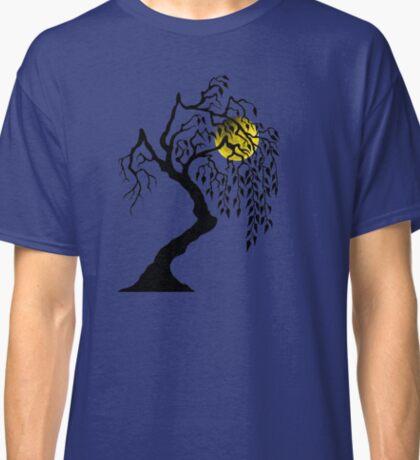 black tree yellow moon Classic T-Shirt