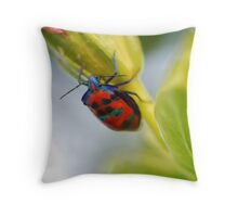 Beetle on Flower 2 Throw Pillow