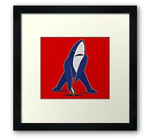 Katy Perry Dancing Tsundere the Shark - Patriots Logo Style Framed Print