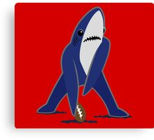 Katy Perry Dancing Tsundere the Shark - Patriots Logo Style Canvas Print