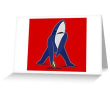 Katy Perry Dancing Tsundere the Shark - Patriots Logo Style Greeting Card