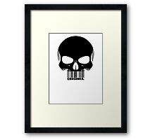 CONSUMER. -black- Framed Print