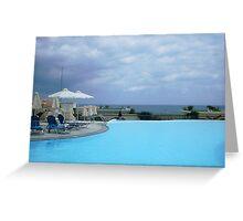 Pool at a Resort Greeting Card