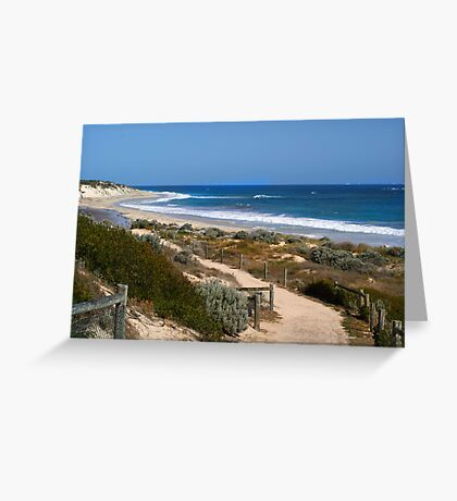 Footpath with a view Greeting Card