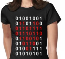 I Love You In Binary Womens Fitted T-Shirt