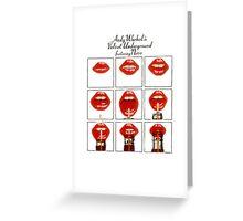 Andy Warhol Lips Greeting Card