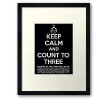 Keep calm and kill the bunny. Framed Print