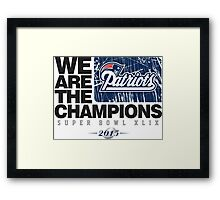 Patriots super bowl champions Framed Print
