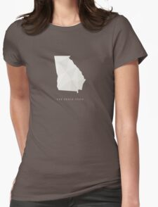 Georgia, The Peach State Womens Fitted T-Shirt