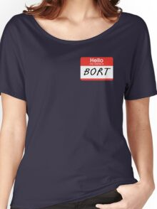 """The Simpsons """"Hello My Name Is Bort"""" Shirt Women's Relaxed Fit T-Shirt"""