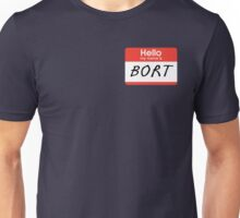 "The Simpsons ""Hello My Name Is Bort"" Shirt Unisex T-Shirt"
