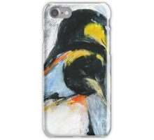Penguins acrylics on paper  iPhone Case/Skin