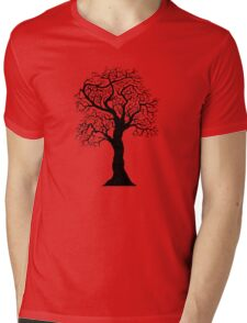 black tree  Mens V-Neck T-Shirt