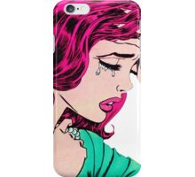 Crying Comic Girl iPhone Case/Skin