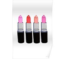 MAC Lipsticks Poster
