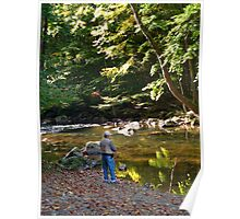 THE BEAUTY OF TROUT FISHING Poster