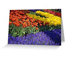 Keukenhof Garden Abstract Greeting Card
