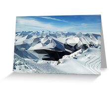 low poly mountains Greeting Card